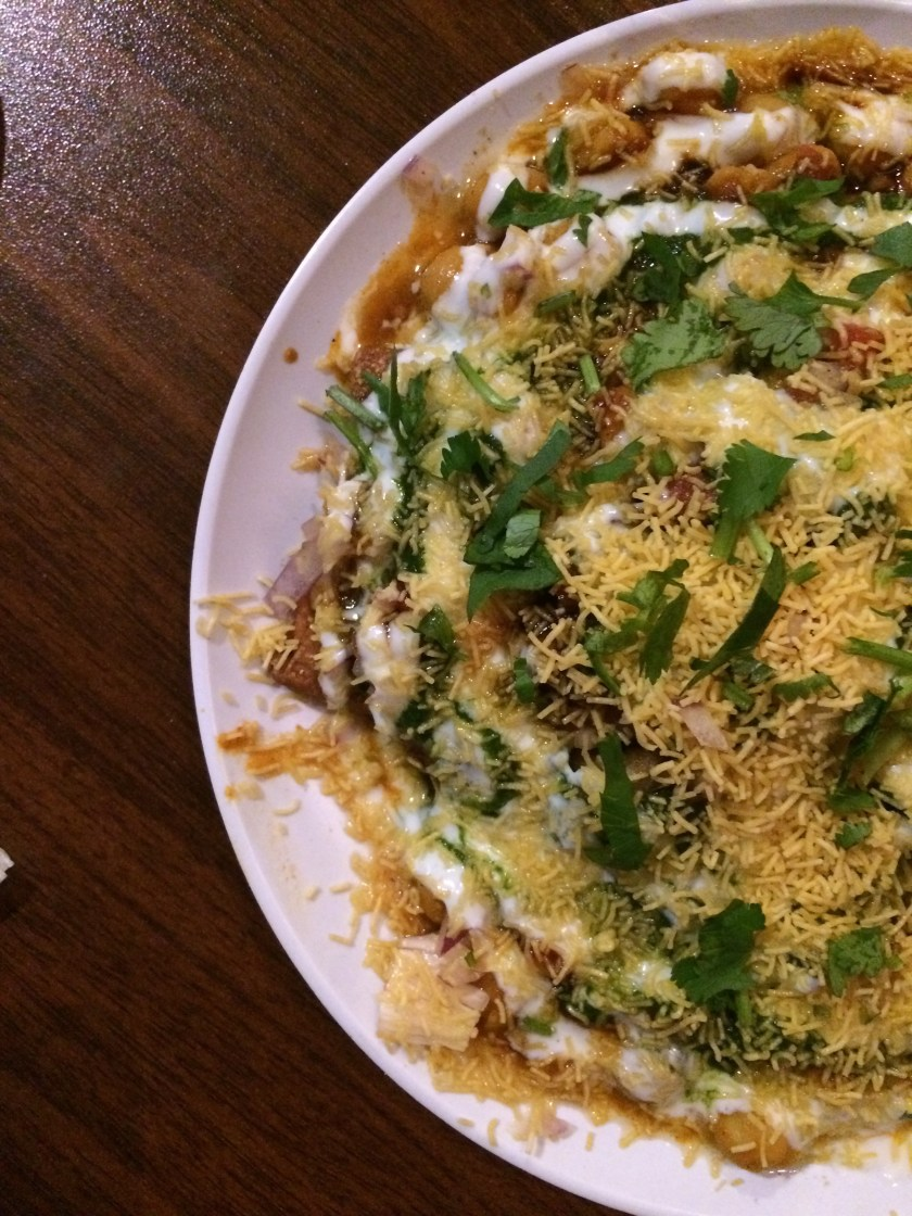Samosa Chaat at Chaupaati