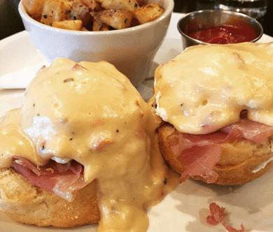 The Asbury Pimento cheese eggs benedict