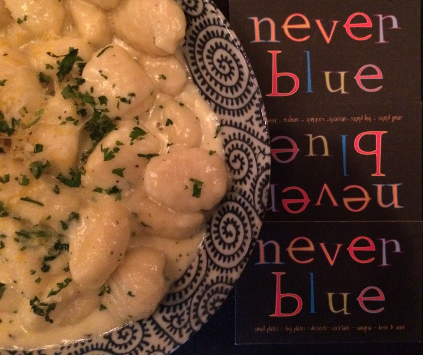 never blue