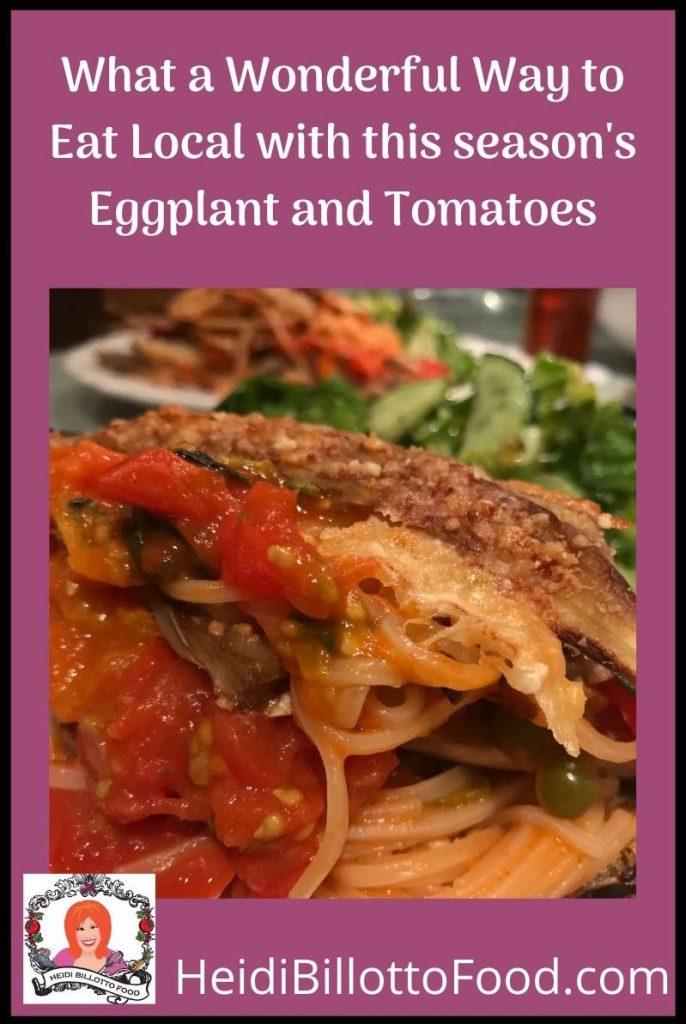 eggplant parmesan and a salad