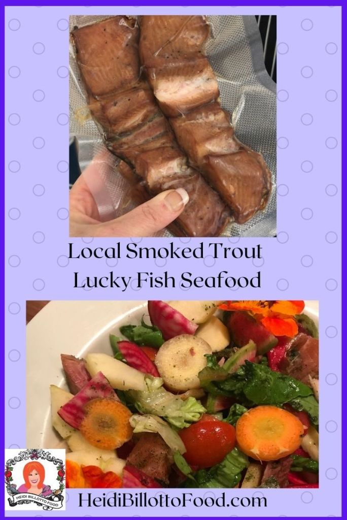 smoked trout and salad