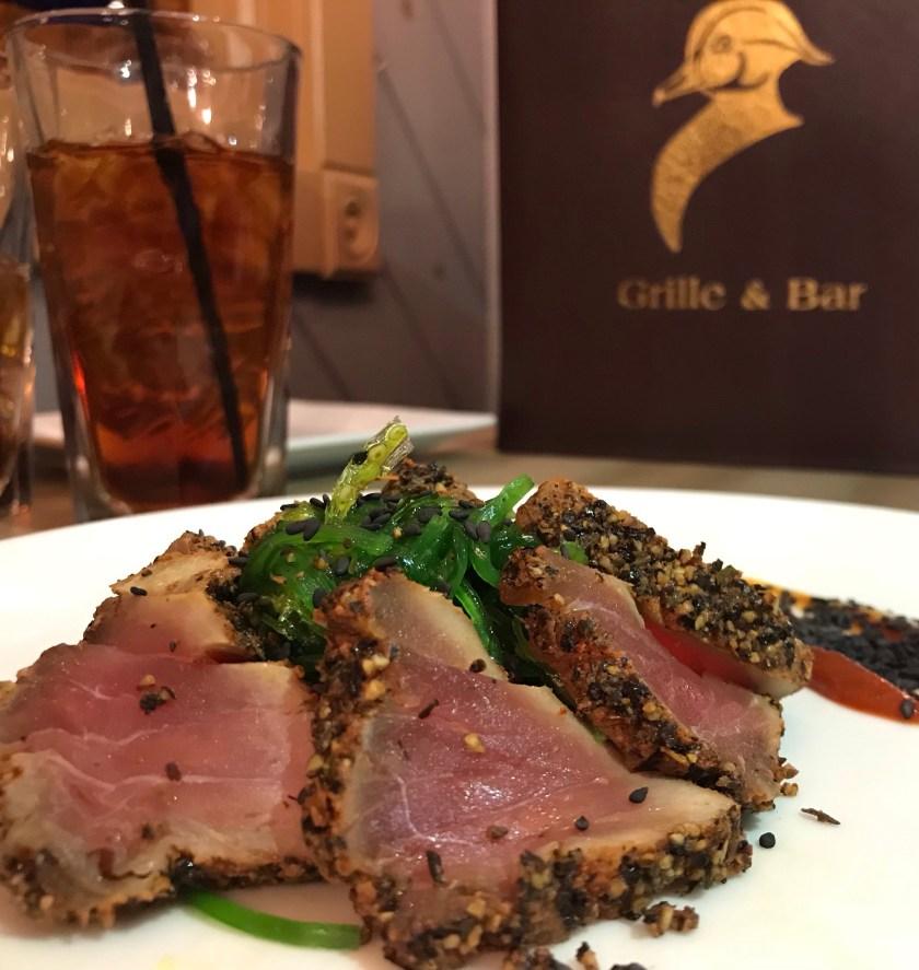 tuna on a plate