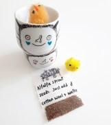 Custom order - Easter bat egg cups for kids
