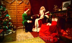 17th December 2013 - Santa and his elf in the Grotto at the Christmas Fair at the Weston-super-Mare Mueum
