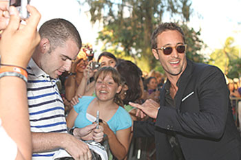 "Alex O'Loughlin (right) celebrates the second season premiere of ""Hawaii Five-0"" with fans in Honolulu 