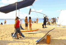 Hawaii-Five-0-on-location on the beach
