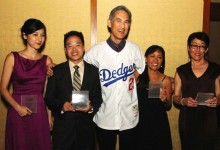 AAJA 2013 National Award Winners: Mina Kimes, Friend in for Adela Uchida, Frederick Katayama, Heidi Chang and Nancy Matsumoto