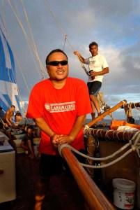 Master Navigators Chad Baybayan and Nainoa Thompson   Courtesy Chad Baybayan