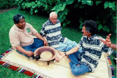Three founders of the Association for Hawaiian Awa