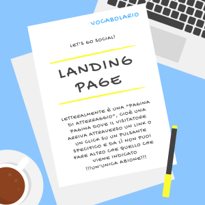 Vocabolario dei social media: Landing Page