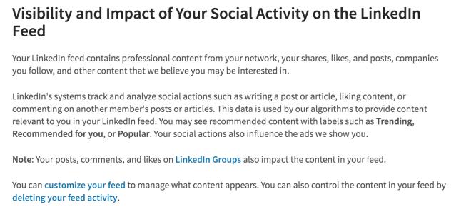 Essere attivi su Linkedin