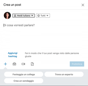 Sondaggi su LinkedIn