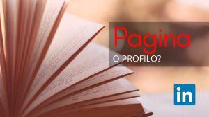 Pagina vs profilo
