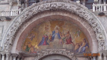 above the doorway into St. Marks Cathedral