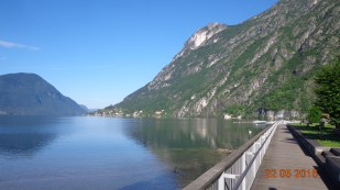 Porlezza - looking down the lake towards the Swiss border