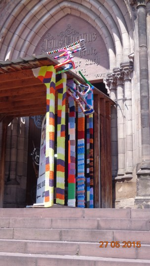 well it needed a bit of brightening up - those 'yarn bombers' get everywhere!