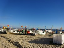 fishing boats on the beach at Monte Gordo