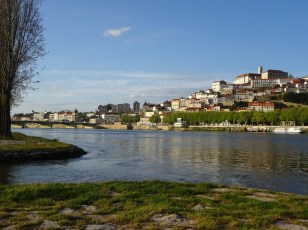 View across the river to Coimbra old town