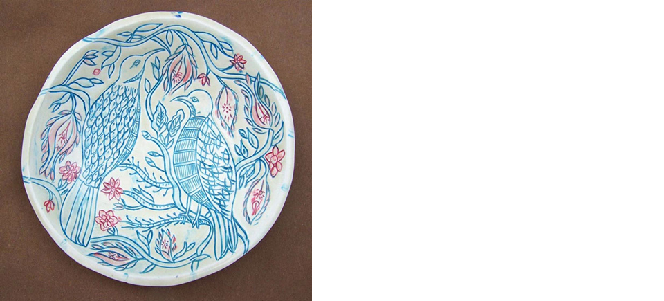 Partridges-Bird-Turquoise-White-Ceramic-plate-OPT