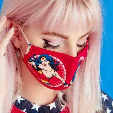 Wonder Woman Filter Pocket Face Mask