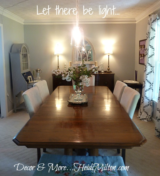 diy pendant light fixture dining room