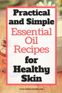 Essential Oils for healthy skin