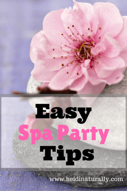 spa party with essential oils