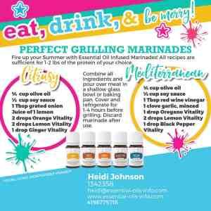 essential oil marinades