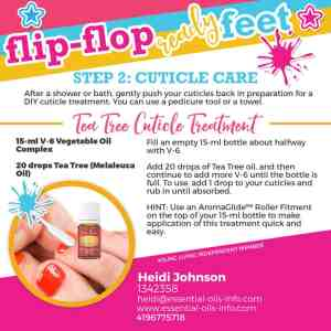 pedicure with essential oils