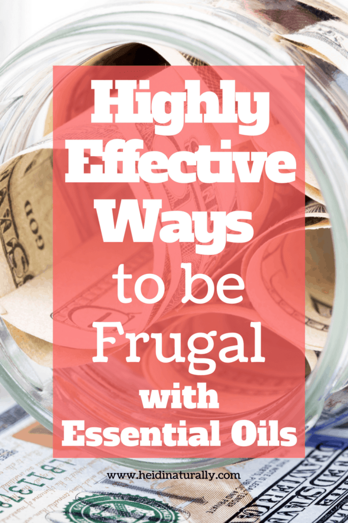 ways to be frugal with essential oils