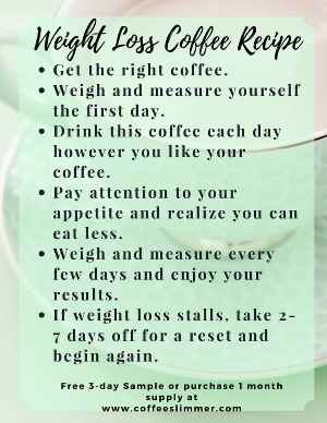 Weight loss coffee recipe