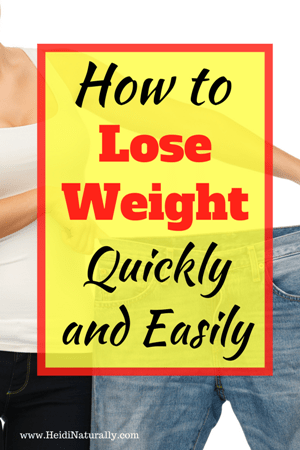 losing weight quickly