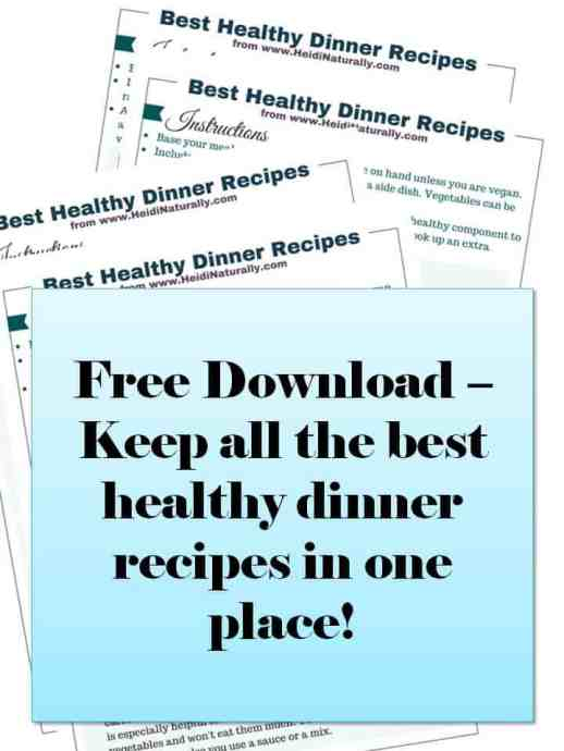free download healthy dinner recipes