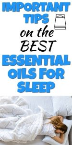 Essential oils for good sleep