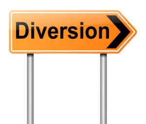 are you diverting people