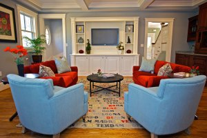 Family Room by Interior Designer Boston & Cambridge, Heidi Pribell