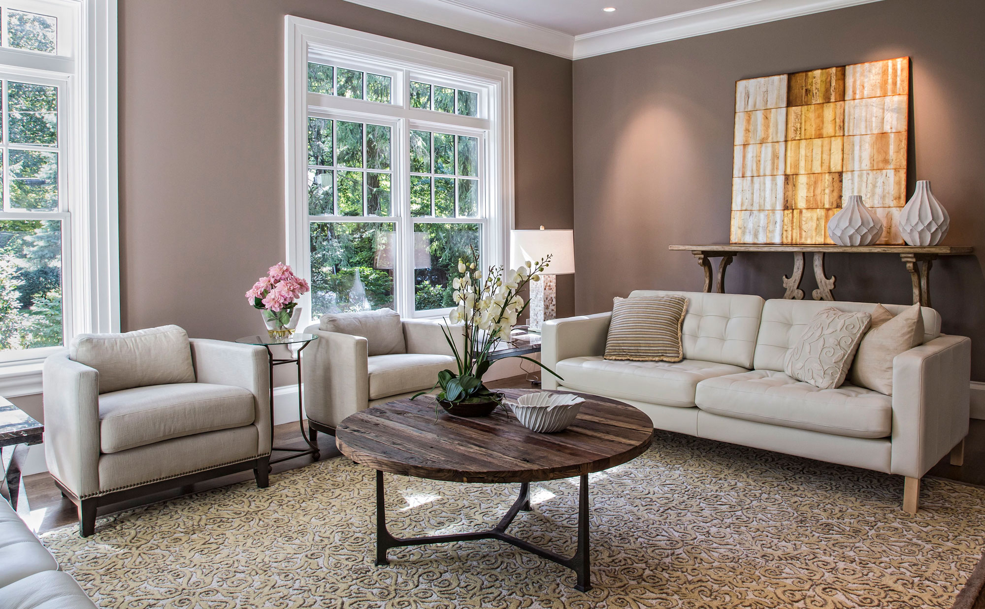 Living Room by Interior Designer Boston & Cambridge, Heidi Pribell