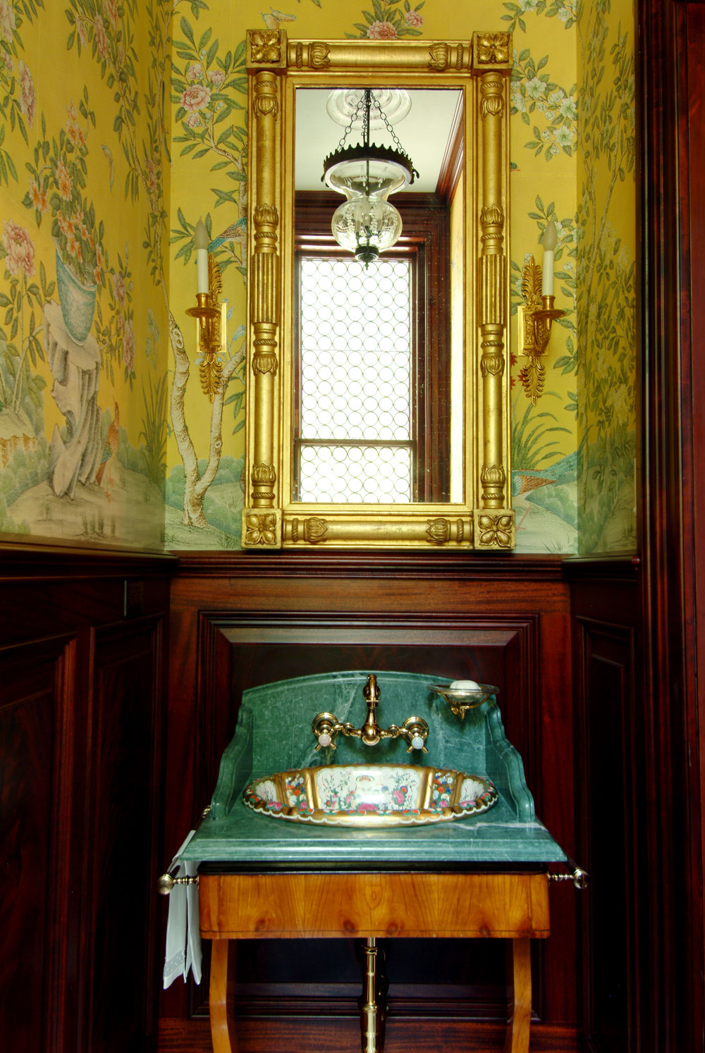 Powder Room by Interior Designer Boston & Cambridge, Heidi Pribell