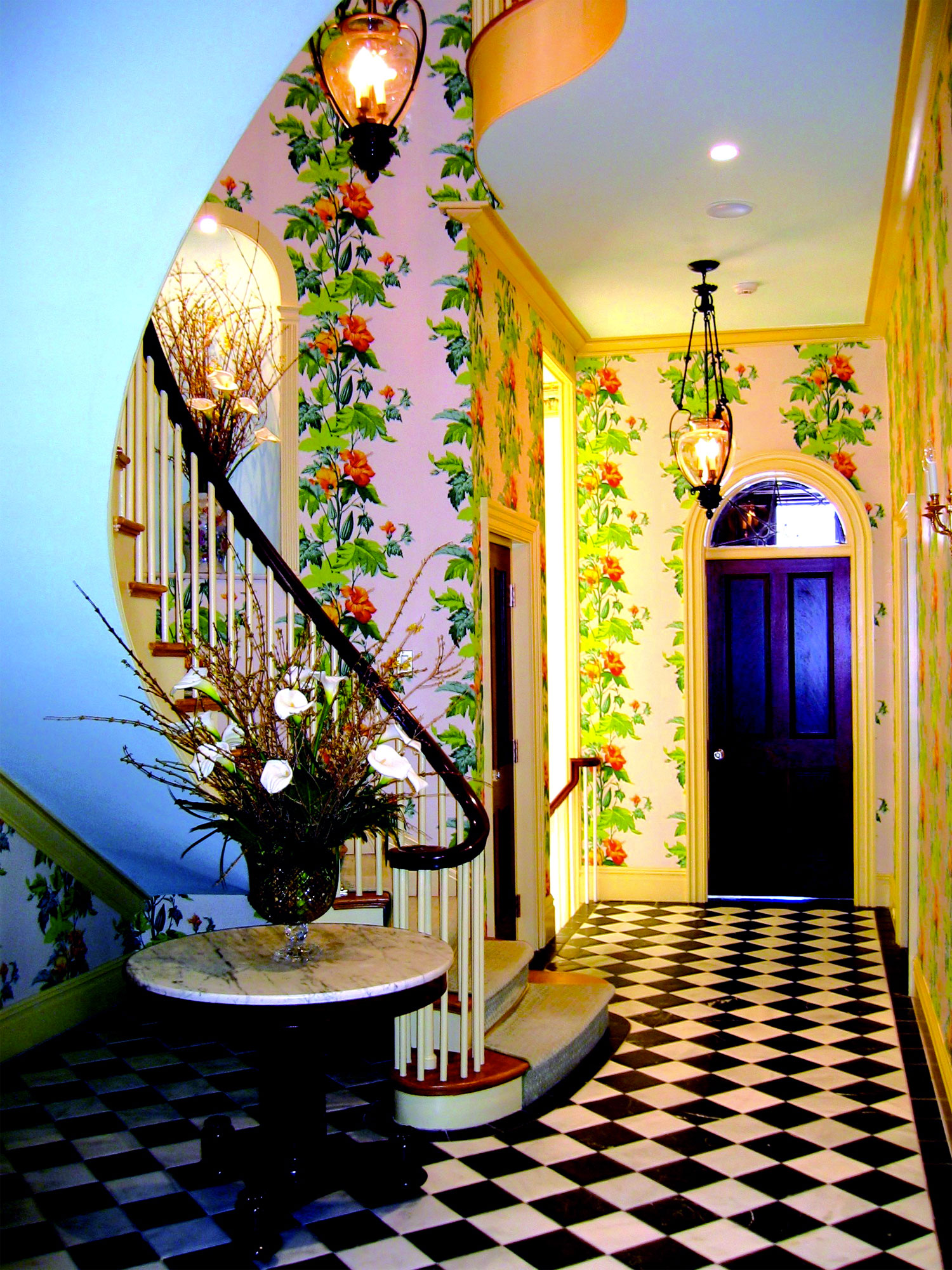 Entry Foyer by Interior Designer Boston & Cambridge, Heidi Pribell