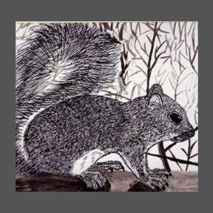 Squirrel Sitting on a Rail