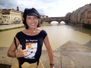 Author_Heidi_Siefkas_Promoting_When_All_Balls_Drop_in_Florence_Italy