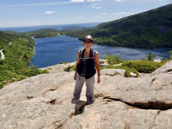 Heidi_Siefkas_atop_South_Bubble_overlooking_Jordan_Pond_Acadia_National_Park_Maine