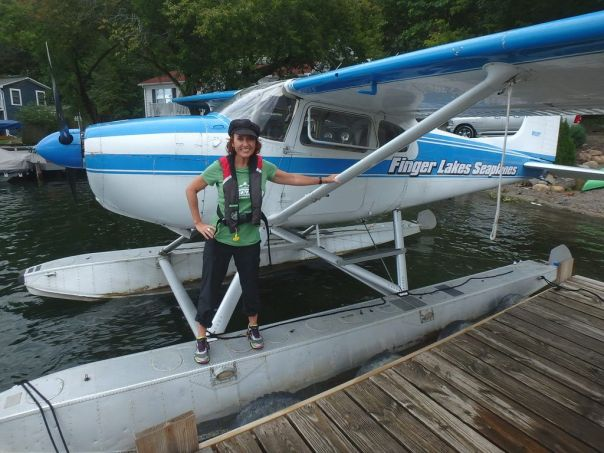 Author_Heidi_Siefkas_and_Finger_Lakes_Seaplanes_ready_for_an_adventure
