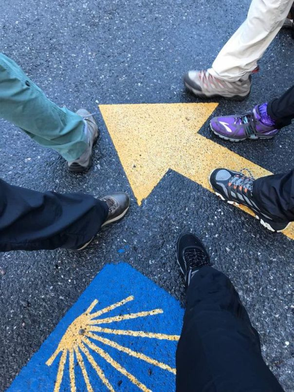 Camino_de_Santiago_Spain_Trail_Markers_and_feet