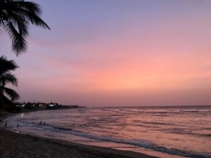 Pink_Sunset_Jobos_beach_puerto_rico_by_author_heidi_Siefkas
