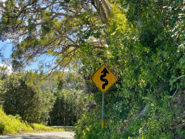 Curvy_Road_Sign_Road_to_Hana_Maui_Hawaii_by_Author_Heidi_Siefkas