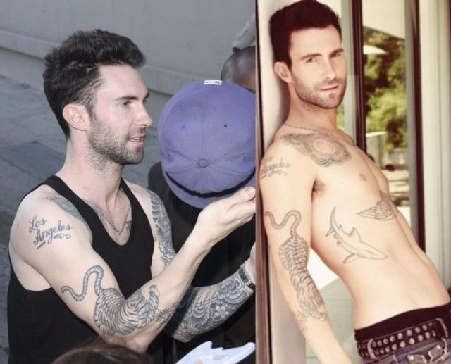 Adam Levine tattoo 6