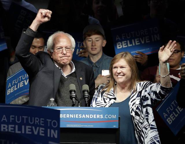 Bernie Sanders and Wife