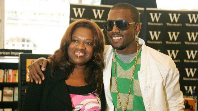 Kanye West and mom Donda