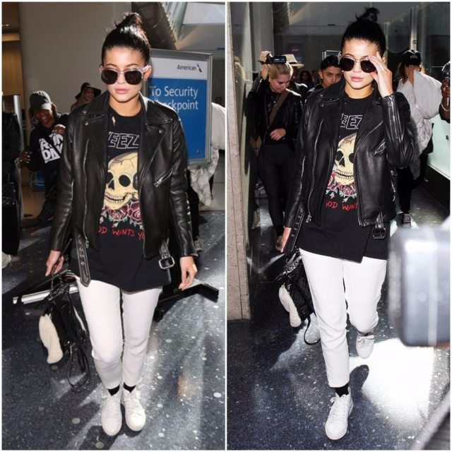 Kylie Jenner's outfit airport